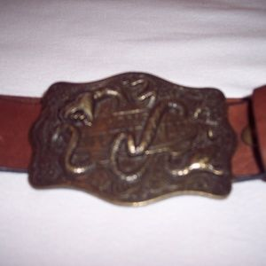Vans Off The Wall Vintage Brass Buckle Belt
